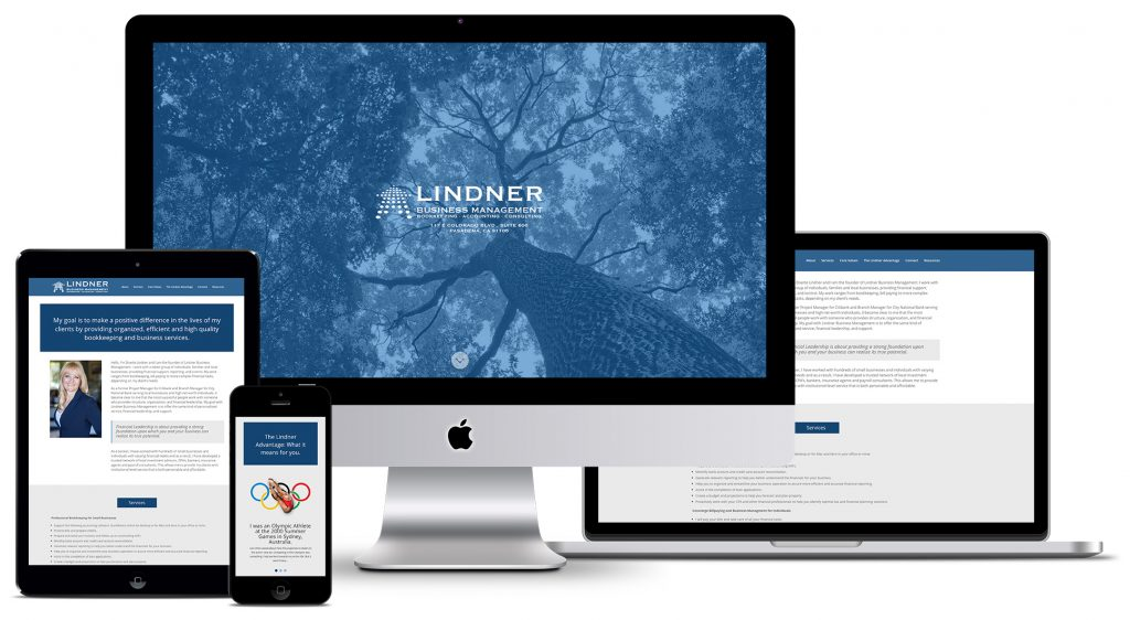 Lindner Business Management - responsive web design - Buddha's Uncle